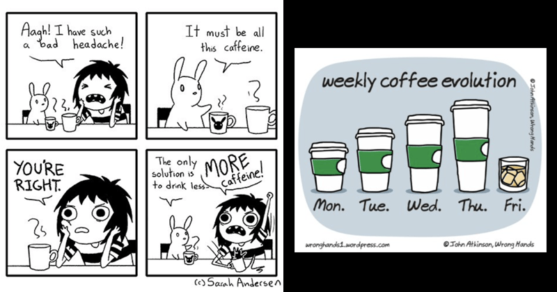 Funny comics, coffee comics, work, productivity.