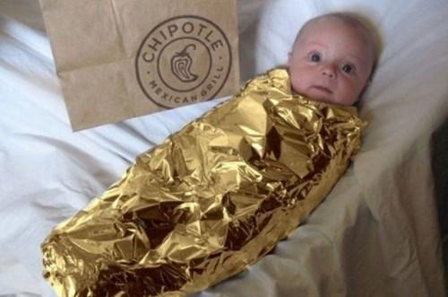 Babies chipotle burritos parenting