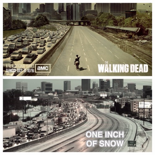 Atlanta The Walking Dead snowmageddon - 8031655936