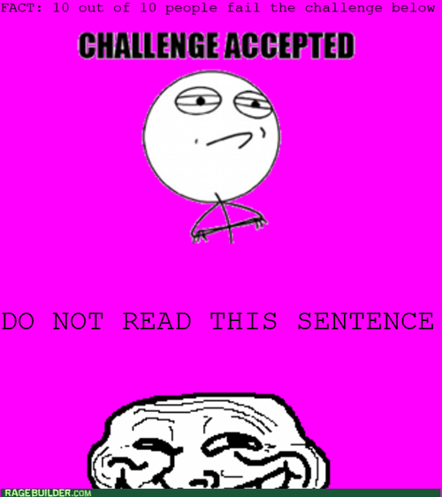 trollface,Challenge Accepted