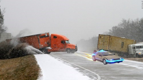 photoshopbattles,snow,dodge challenger,weather,photoshop,georgia snowstorm,Reddit