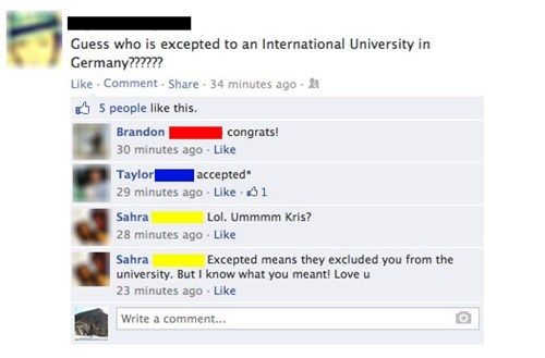 university,facepalm,spelling