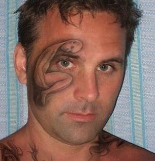 bad idea tattoos face tattoos Ugliest Tattoos - 8031843328
