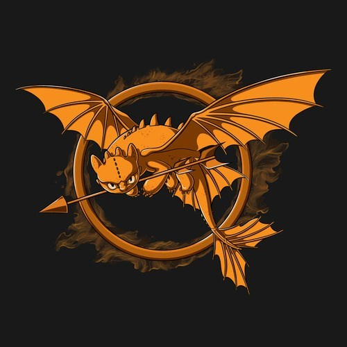 mockingjay,tshirts,hunger games,toothless,How to train your dragon