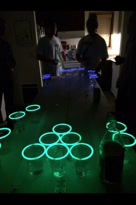 glow sticks beer pong funny tron after 12 g rated