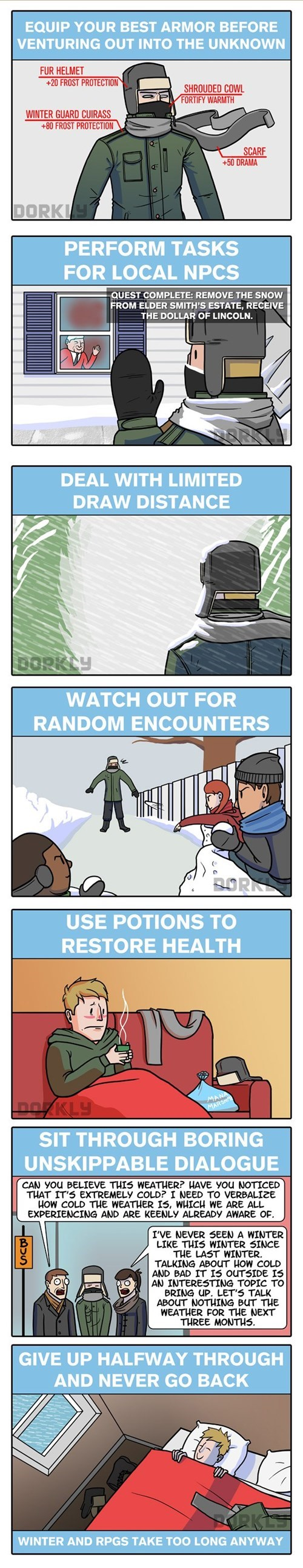 dorkly snow winter web comics