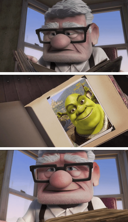up,shrek,shrek is love,shrek is life
