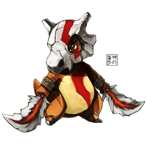 Pokémon,Fan Art,god of war,cubone