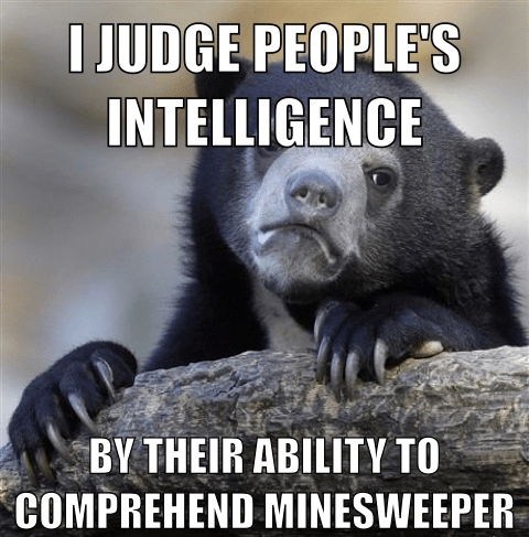 Minesweeper Memes Confession Bear - 8032008704