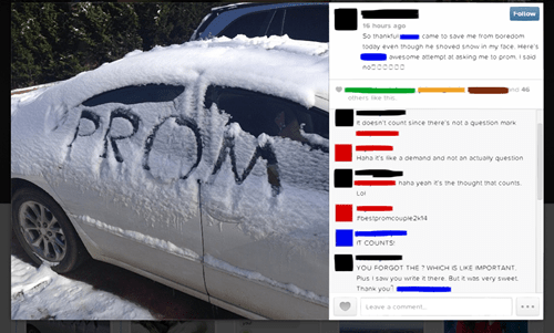 snow,cars,prom,dating