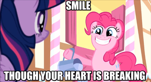 pinkie pie,smile,hide your feelings
