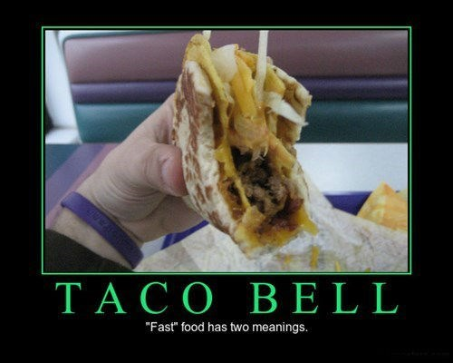 taco bell butt troubles funny fast food - 8033250304