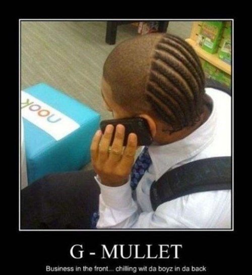 gangsta mullet business funny - 8033283840