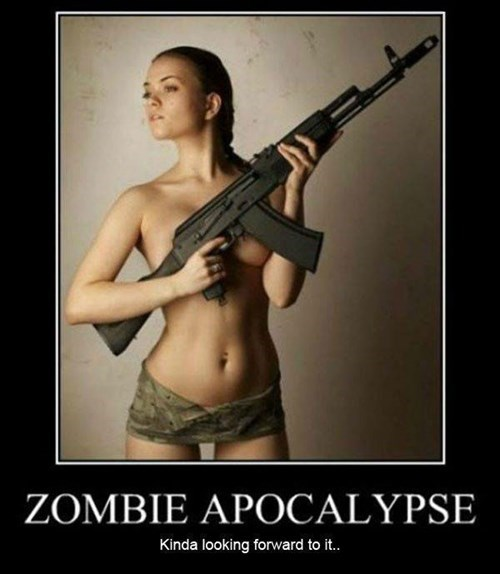 Sexy Ladies apocalypse zombie funny The Walking Dead - 8033292544