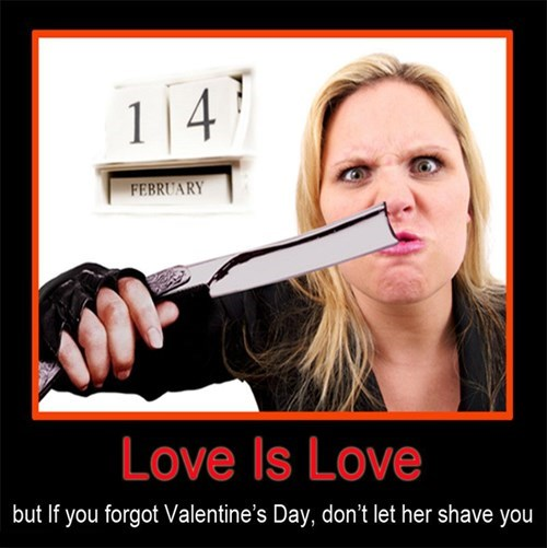 shave sharp love funny Valentines day - 8033463296