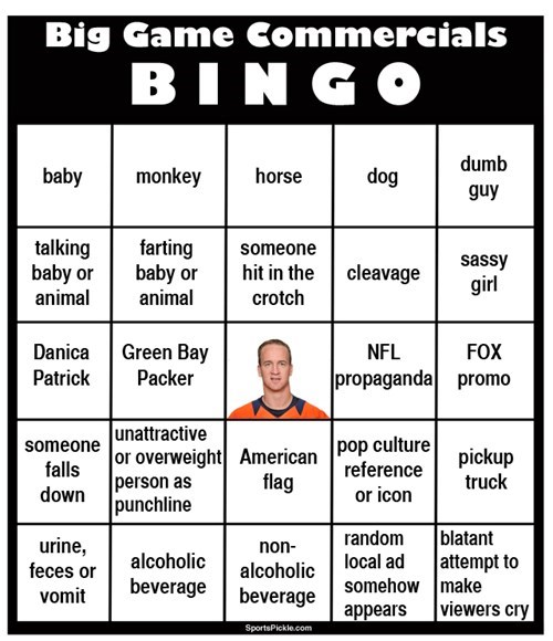 bingo football nfl super bowl - 8034620416