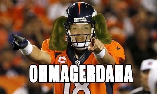 derp Denver Broncos Ermahgerd football nfl omaha peyton manning super bowl - 8034622976