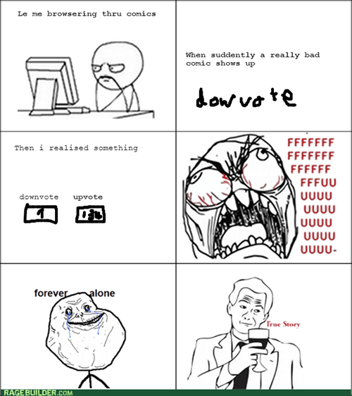 forever alone rage downvote meta computer guy - 8034718976