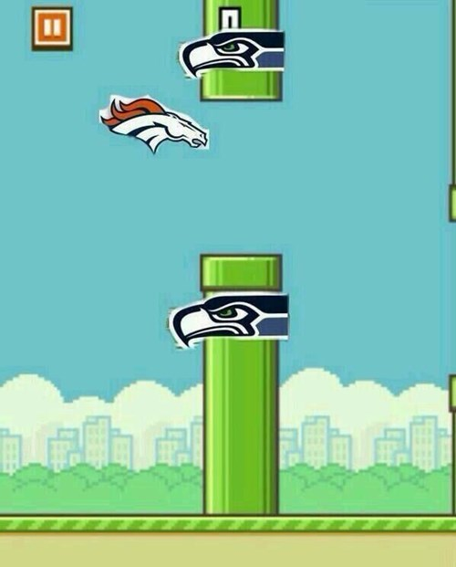 nfl super bowl flappy bird football Denver Broncos - 8034983936