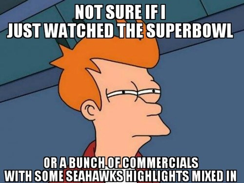 nfl super bowl seahawks Futurama Fry - 8035360768