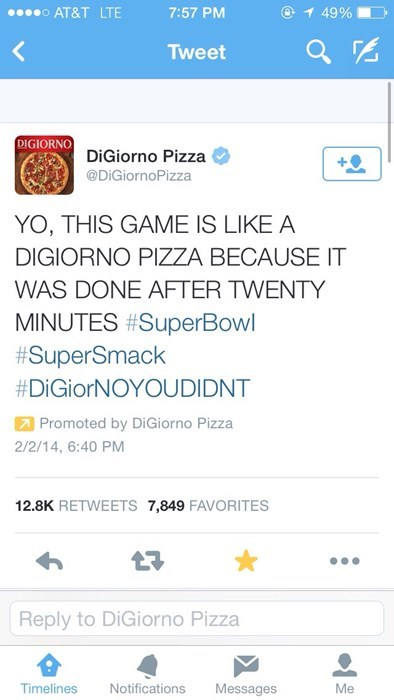 The DiGiorno Guy is Drunk Again