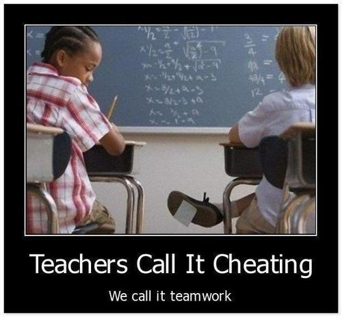 teachers teamwork cheating funny - 8035940352