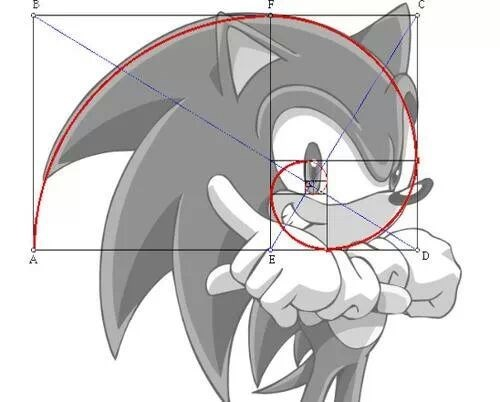 math funny fibonacci spiral sonic - 8035941888