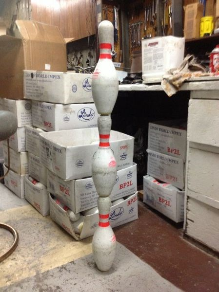 monday thru friday work bowling pins bowling alley balancing - 8036002304