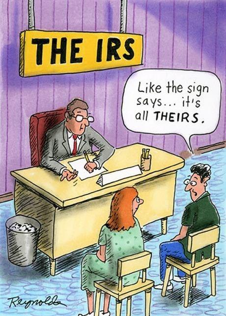 IRS signs puns web comics - 8036002816