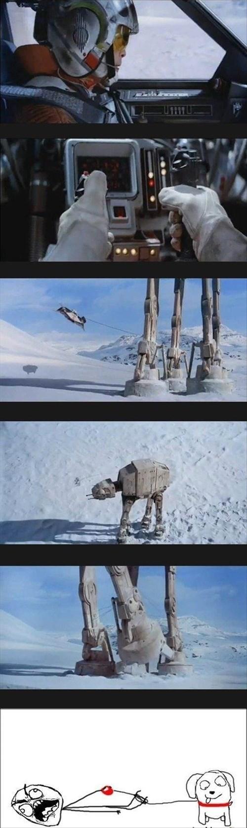 walkers star wars luke skywalker Empire Strikes Back - 8036023552