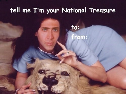 wtf nick cage cards funny Valentines day dating g rated - 8036026112