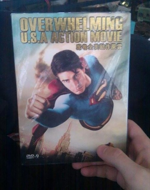 engrish,DVD,man of steel,superman,fail nation