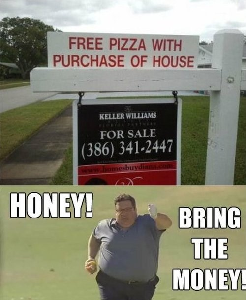 pizza,free pizza,real estate