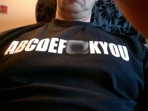 rage poorly dressed alphabet t shirts - 8037634816