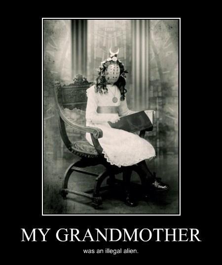 wtf grandma alien funny - 8037717504