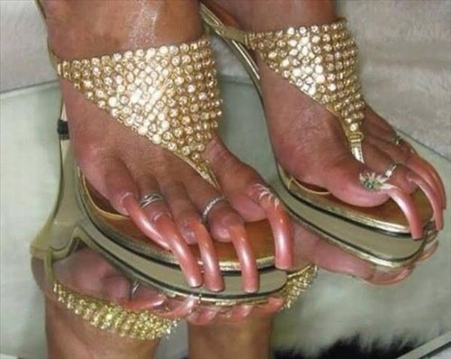 toenails toe rings poorly dressed pedicures