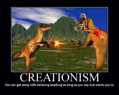 awesome creationism funny dinosaurs - 8037851648