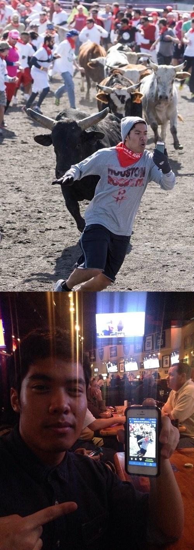 selfie,bull run,extreme