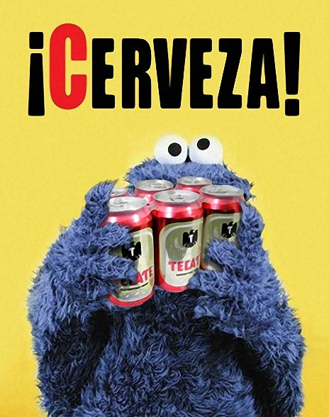 beer Cookie Monster cerveza Sesame Street funny - 8037916416