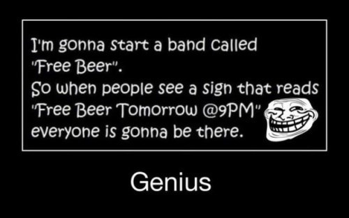 beer troll genius funny free - 8038081536
