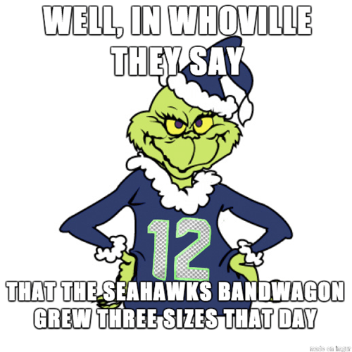 seattle seahawks the Grinch super bowl seahawks - 8038110464