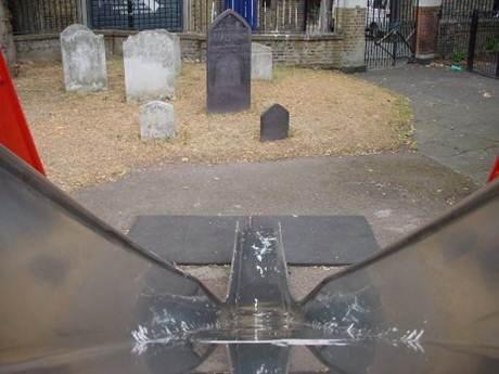 cemetery water slide kids graveyard playground parenting