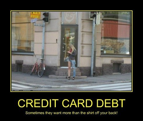 credit card debt wtf funny - 8038204928