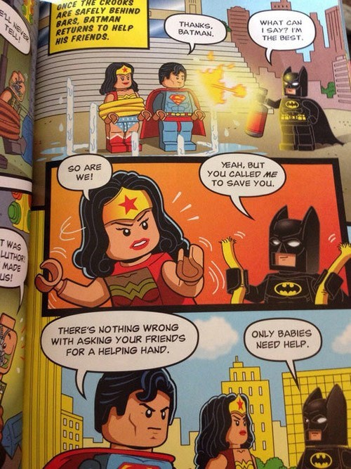 lego wonder woman off the page batman superman - 8038213888