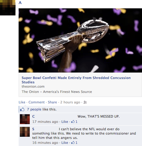super bowl the onion gullible trolled