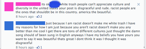 facepalm Oversharing racist