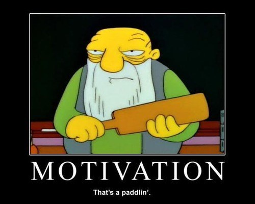 motivation paddle the simpsons funny - 8038275584