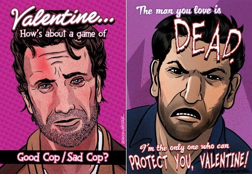 Rick Grimes art shane walsh Valentines day - 8038324224