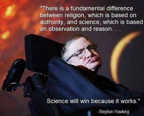 reason science quote stephen hawking
