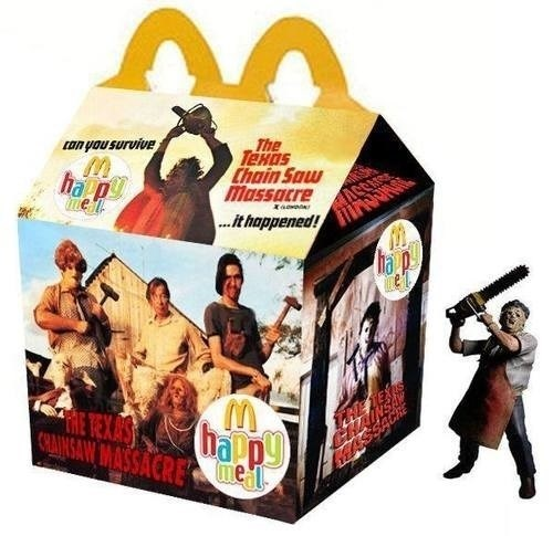happy meals McDonald's Texas Chainsaw Massacre